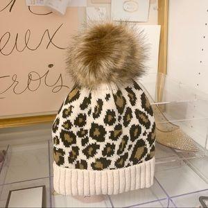 Leopard Faux Fur Beanie